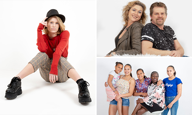 Fotoshoot voor 1-6 personen + 10 digitale foto's