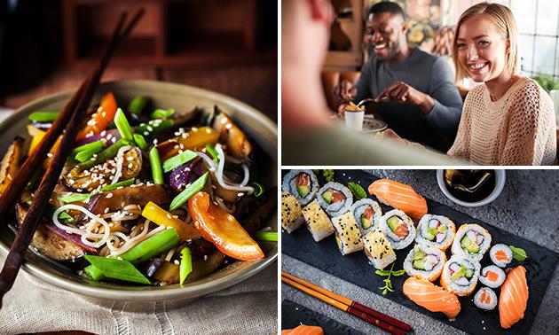 Afhalen: rijsttafel of sushibox naar keuze bij Dinertijd