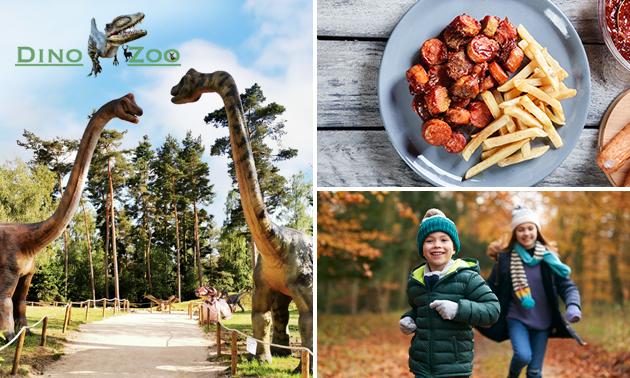 Entree Dino Zoo Metelen + curryworst + friet