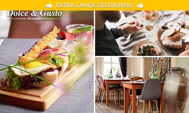 Luxe lunchplank bij Dolce & Gusto Ristorante