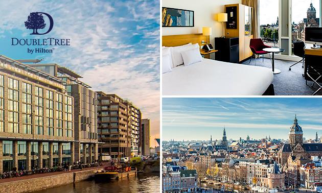 Overnachting voor 2 + ontbijt + 3-gangendiner in hartje Amsterdam