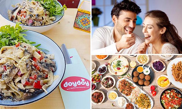 3-gangen shared dining bij Doydoy