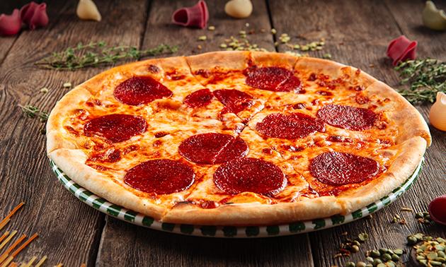 Afhalen: pizza of schotel + dessert + frisdrank