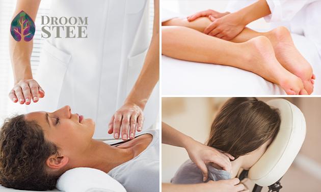 Massage naar keuze of reikibehandeling