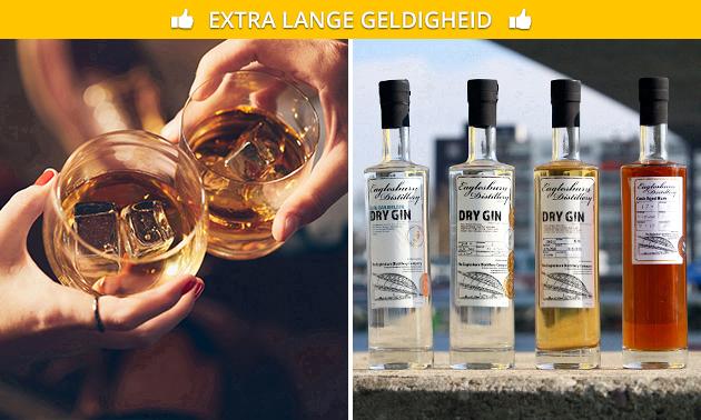Waardebon voor whisky, rum, vodka en gin