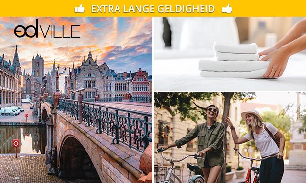 Overnachting(en) voor 2 of 4 + fietsen/kajak in hartje Gent