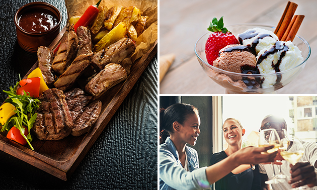 All-You-Can-Eat grill of fondue + aperitief of dessert
