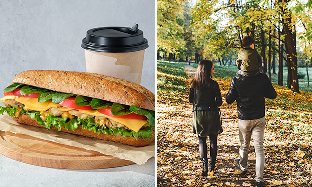 Wandelarrangement + lunch + milkshake