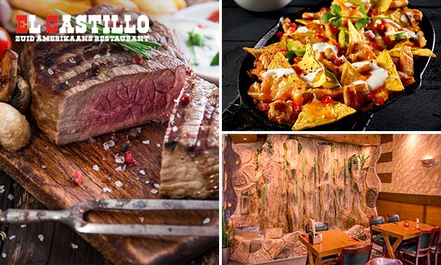 3-gangen keuzediner + tortillachips bij El Castillo