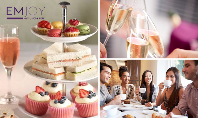 High tea + glaasje prosecco bij EMjoy