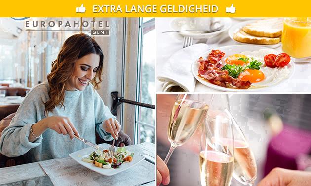 Ontbijtbuffet + bubbels bij Europahotel Gent