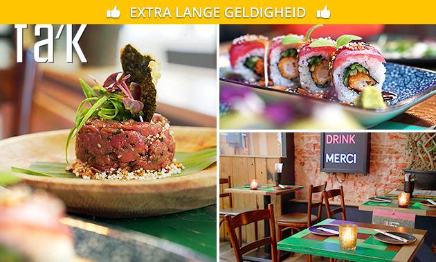 Sushi + Asian fusion + salade + friet bij FAK Utrecht