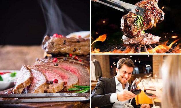 Steak naar keuze + stokbrood + salade
