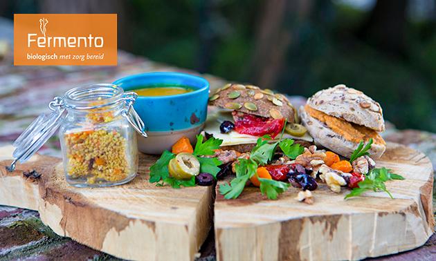 Biologische lunchplank bij Fermento