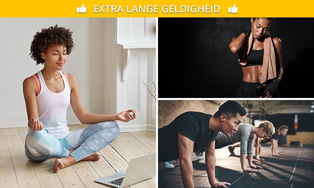 12 weken onbeperkt toegang tot online workoutvideo's