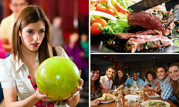 All-You-Can-Eat & Drink + bowlen voor 4 pers.