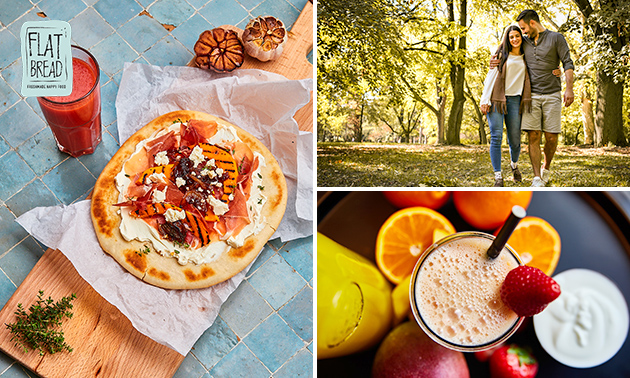 Wandeling door Leiden + lunch to go + smoothie + koffie/thee
