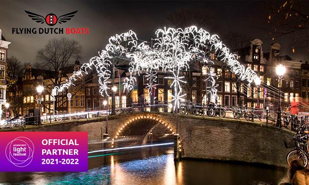 Rondvaart + onbeperkt drank tijdens Amsterdam Light Festival