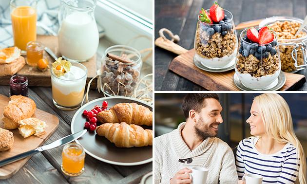 Luxe ontbijt + glas cava
