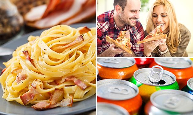 Afhalen: pizza of pasta + drankje