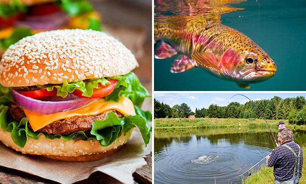 Vissen (4 uur of dagkaart) + broodje met snack + drankje