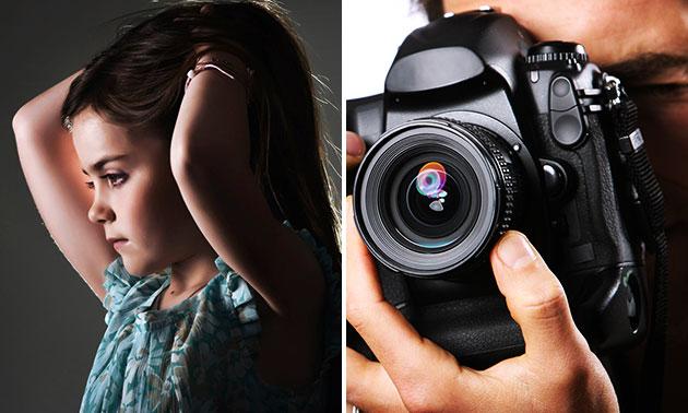 Mini-fotoshoot + 1 digitale bewerkte foto