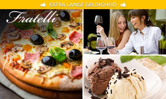 2-gangen keuzelunch + limoncello bij Fratelli