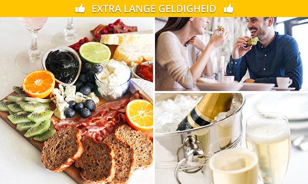 Thuisbezorgd of afhalen: ontbijtmand + fles cava voor 2