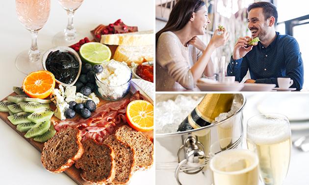 Thuisbezorgd of afhalen: ontbijtmand + cava voor 2
