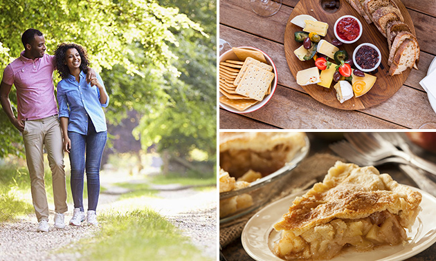 Wandelarrangement + lunchplank