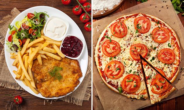 Pizza au choix ou menu en 3 services au choix