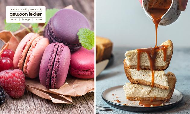 Afhalen: 4 punten cheesecake + 4 macarons bij Gewoon Lekker