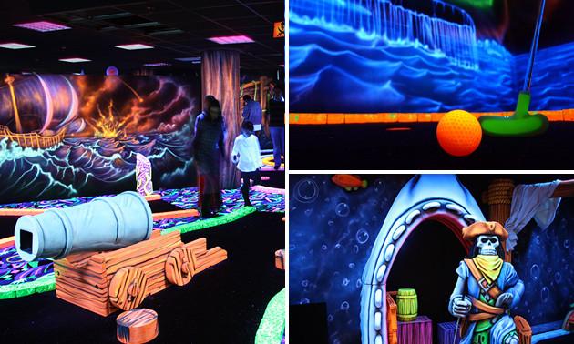 glowgolf scheveningen, glowgolf + spiegeldoolhof + time freak spel