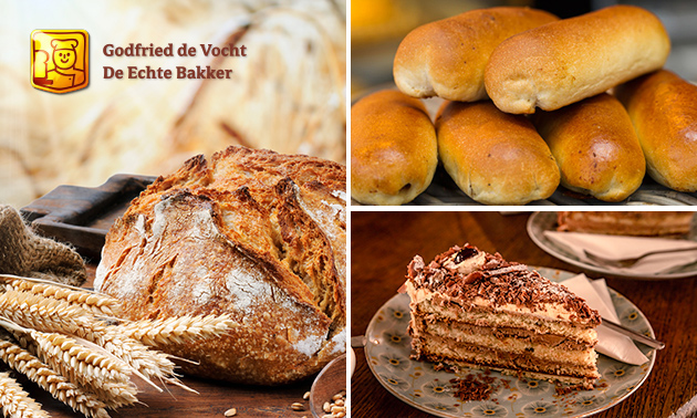 6 worstenbroodjes + brood naar keuze + chocolade-ijstaart