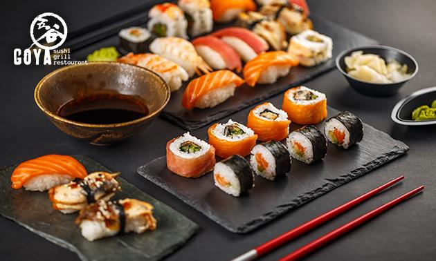 Afhalen: sushibox (30 of 56 stuks) bij Goya Sushi & Grill