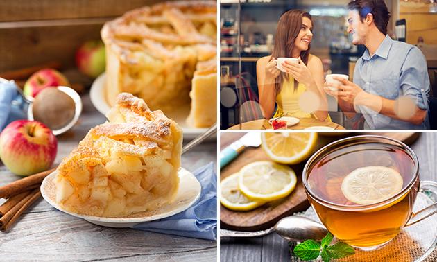 Koffie/thee + gebak bij Grand Café Aan de Beek