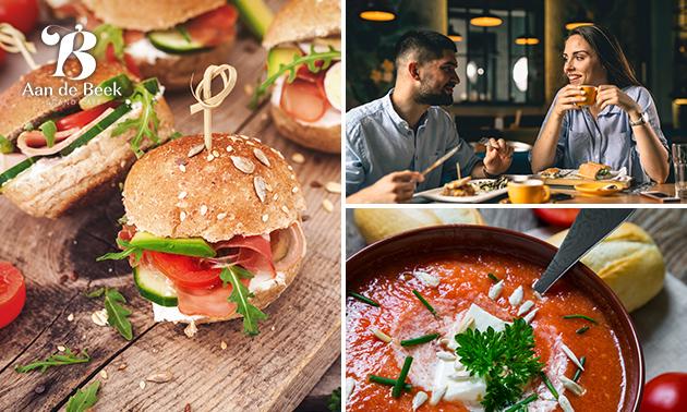Luxe lunchplank bij Grand Café Aan de Beek