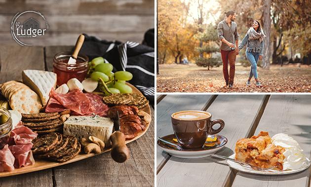 Wandelarrangement + koffie + gebak + borrelplank