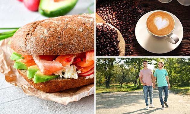 Wandelarrangement + koffie + koek + lunch to go