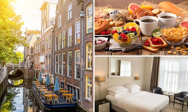 Luxe overnachting voor 2 + ontbijt in hartje Delft