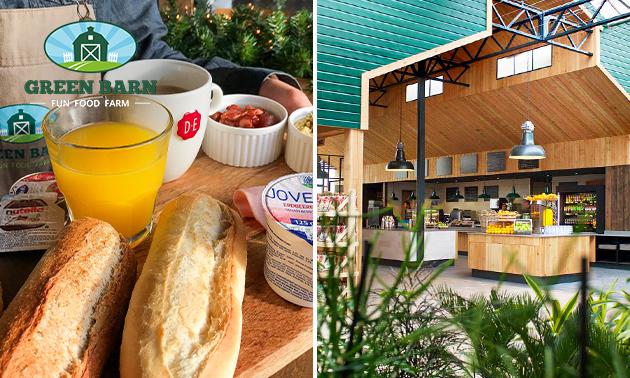 Ontbijt + koffie/thee + jus d'orange bij Green Barn
