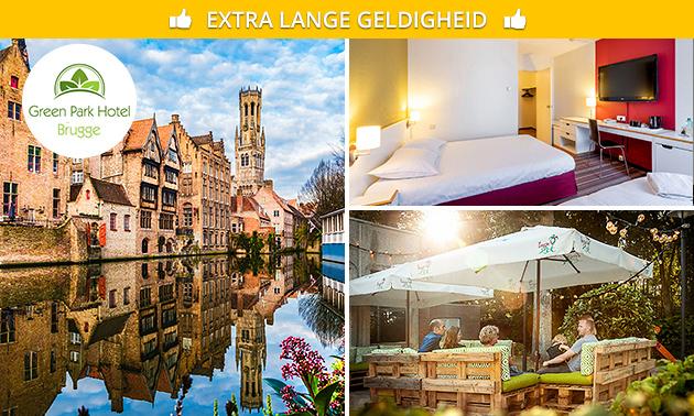 Overnachting + ontbijt voor 2 nabij Brugge