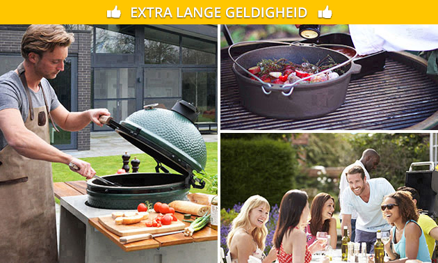 Big Green Egg-workshop + 4-gangendiner (5 uur)