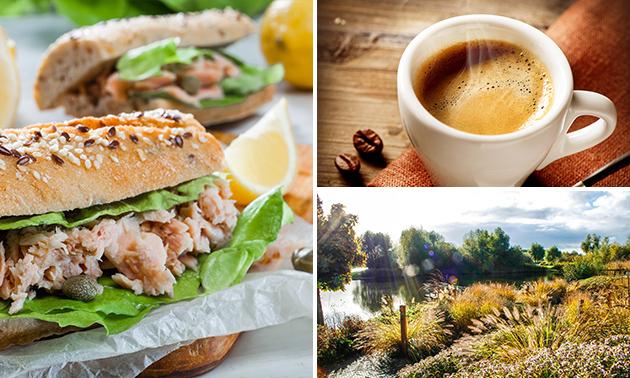 Wandelarrangement + koffie/thee + lunch to go