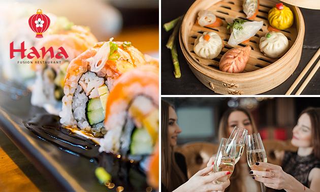 High tea met sushi, dimsum, prosecco en meer