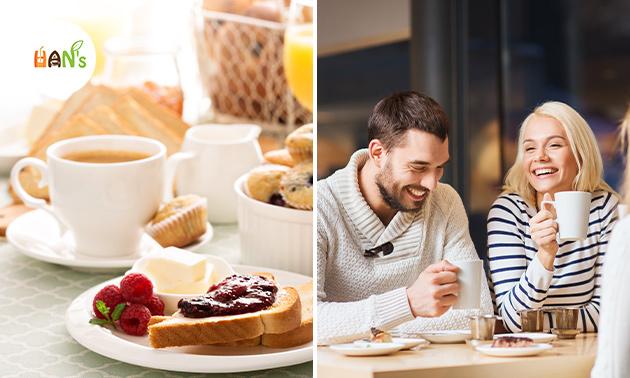 Ontbijt + koffie/thee + verse jus bij HAN's