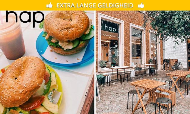 Broodje/hamburger + sap naar keuze in hartje Brugge