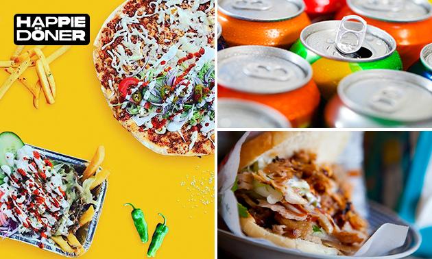 Afhalen: Turkse pizza of broodje kipdöner + drankje