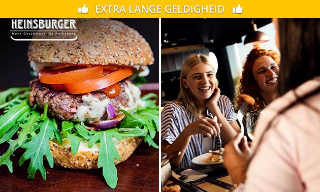Burger + friet + dessert bij Heinsburger