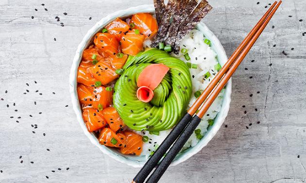 Afhalen: sushibox of 2-gangendiner bij Hello Sushi